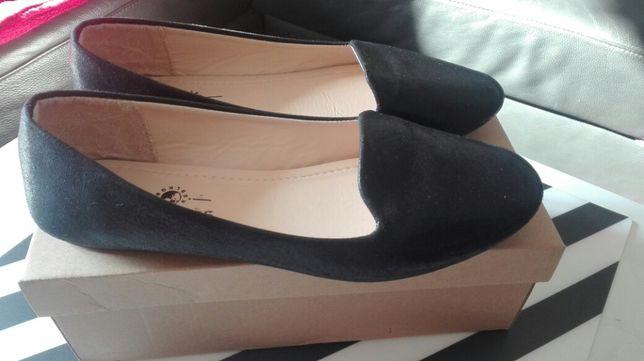 Elegancie balerinki, czarne rozmiar 39