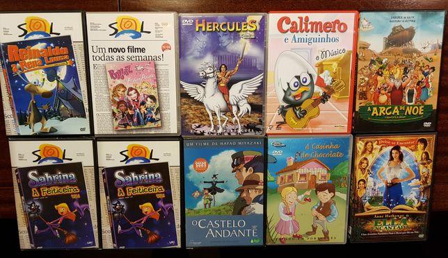 5 DVD's infantis