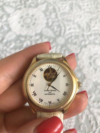 Колекционные швейцарские часы Gustav Becker. Годинник оригінал