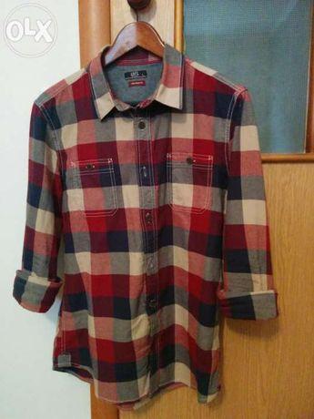 Продам мужскую клетчатую рубашку Loft