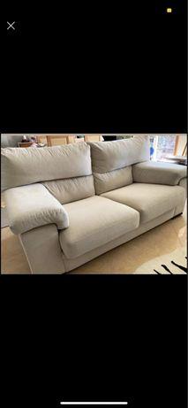 Sofa 3 lugares bege