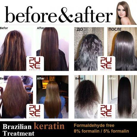 Кератин 5%. Набор для кератинового выпрямления волос.