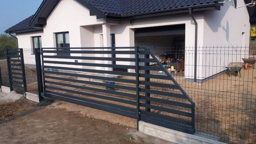 Brama palisadowa horyzontalna panelowa