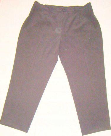 Spodnie damskie 2XL-3XL 52-54-56 c.brąz spandex!