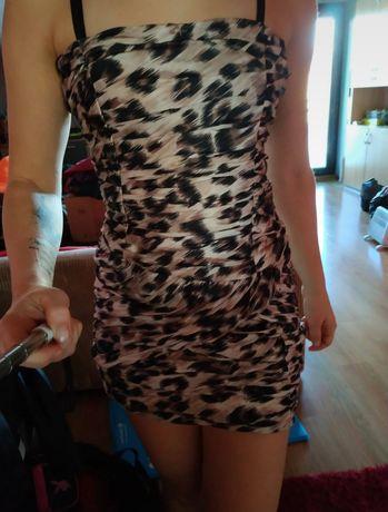 Sukienka panterka mini