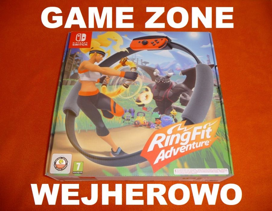 Ring Fit Adventure Nintendo SWITCH = gra ruchowa jak Kinect / Move Wejherowo - image 1