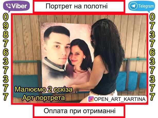 Портрет на заказ. Печать на холсте.Картина на заказ.Фото на холсте