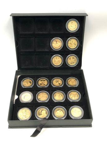 Kolekcja monet medali Jan Paweł II platerowane złotem 999 rok 2015