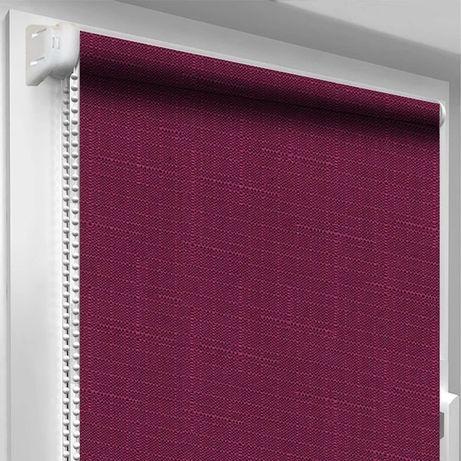 Рулонные шторы (фиолетовый лён) ролеты, жалюзи