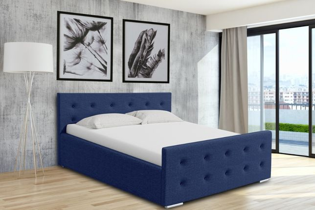 Łóżko tapicerowane Berlin stelaż+pojemnik Gratis szybka wysyłka 160x20