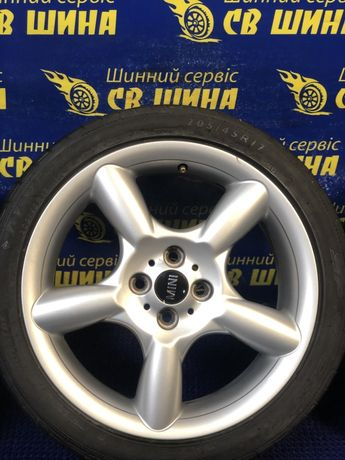 Диски 4x100 R17 Mini Cooper R55 з шинами Dunlop 205/45R17