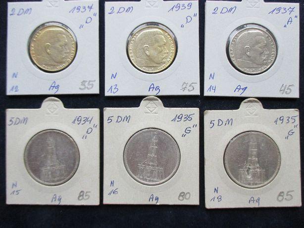 Zestaw srebrnych monet .Oryginały !!! 41
