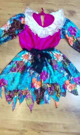 Kolorowa sukienka przebranie wróżki na bal przebierańców Halloween