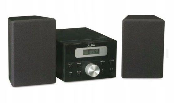 Miniwieża ALBA CD LCD Micro system - Czarna wysylka