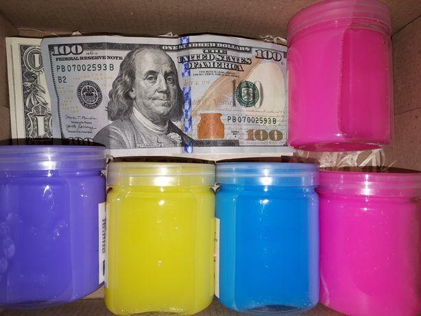 Денежные слаймы и киндер сюрпризы с разной валютой