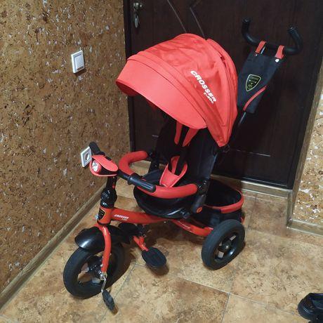 Детский трёхколёсный велосипед Crosser с поворотным сиденьем