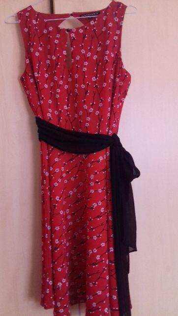 Vestido Dandara vermelho florido S