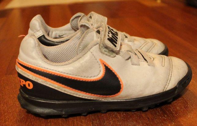 Nike, buty piłkarskie dziecięce turfy na sztuczną trawę rozm 27,5 rzep