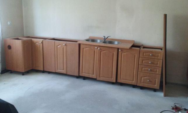 Meble kuchenne kuchnia zlew bateria zmywarka pralka lodówka gazówka