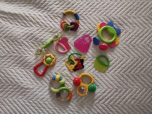 Zabawki dla niemowląt gryzaki grzechotki