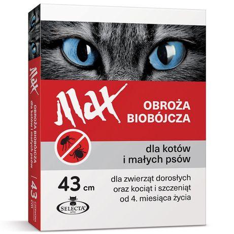 Max obroża biobójcza 43 cm na kleszcze i pchły dla Kotów i Małych Psów