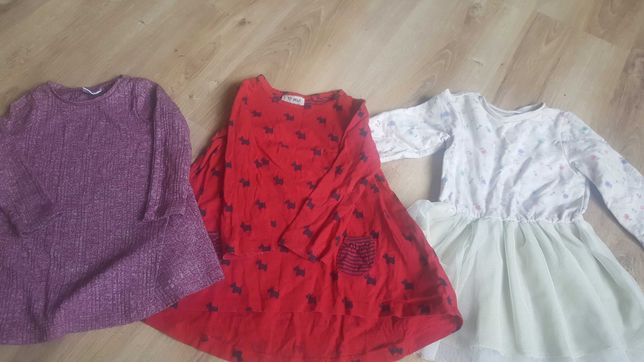 Sukienki 3 szt - zestaw