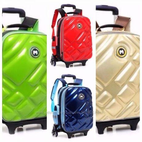 Рюкзак школьный на колесах, ранец тележка для поездок школы