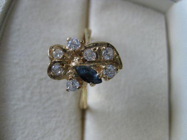Stary złoty pierścionek rybka 750