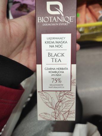 Ujędrniający krem maska na noc Biotaniqe black tea