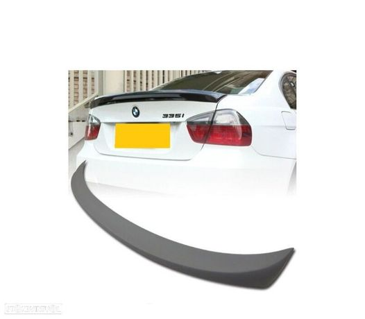 AILERON / LIP / SPOILER TRASEIRO LOOK MTECH PERFORMANCE BMW SERIE 3 E90 05-12 PRETO MATTE