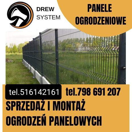 Ogrodzenia panelowe producent montaż panel 153cm fi4 plus podmurówka