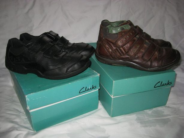 Ботинки туфли Clarks Англия 33 размер 21 см по стельке .Кожаные.