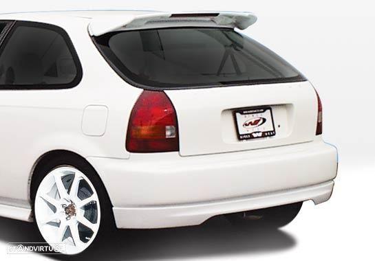 Aileron / lip / spoiler traseiro Honda Civic EK 96-01 3 portas Type R Look C/3ºstop em led