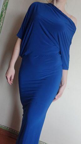Длинное синее платье Enneli (M 46-48)