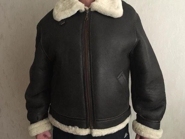 Классическая НОВАЯ лётная дубленая меховая куртка Bomber B-3.Германия
