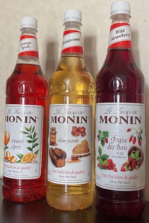 """Сироп """"Manin"""" 1 литр Франция разные вкусы . Добавка к кофе и мороженом"""