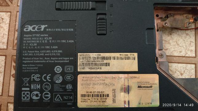 Корпус ноутбука acer aspire 5715z