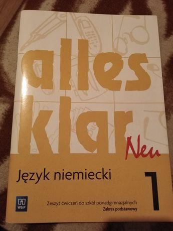 Język niemiecki Alles klar neu 1-zeszyt ćwiczeń