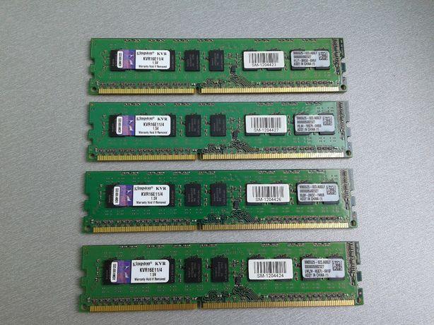 DDR3 4Gb \ 8Gb 12800E 1600 Mhz ECC Unbuffered UDIMM