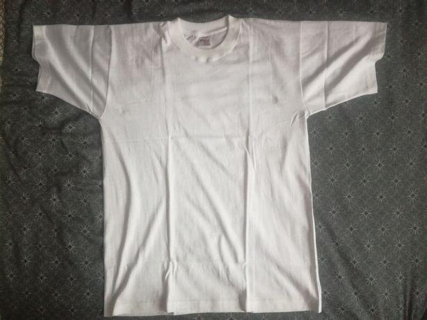 T-shirt biały, koszulka bawełna, rozmiar S-XXL
