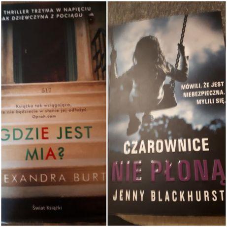 """Książki""""Gdzie jest Mia"""" i """"Czarownice nie płoną""""zestaw 20zł"""