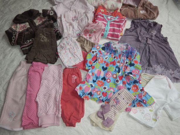 zestaw ubranek mega paka dziewczynka ubranka 3-6mc 68cm 21 sztuk!!!
