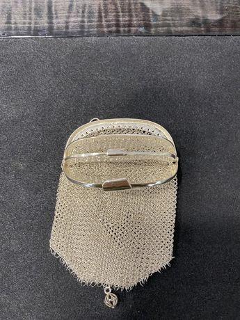 Bolsa em prata 3 dinheiros