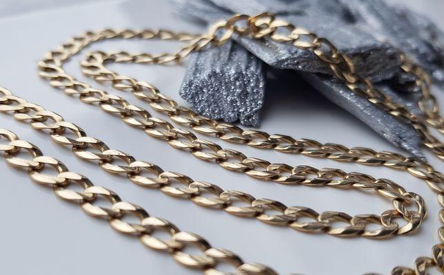 PEŁNY złoty łańcuszek PANCERKA pr. 585 !