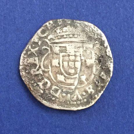 moeda TOSTÃO - D. Afonso VI - DG . REX . PORTV - prata