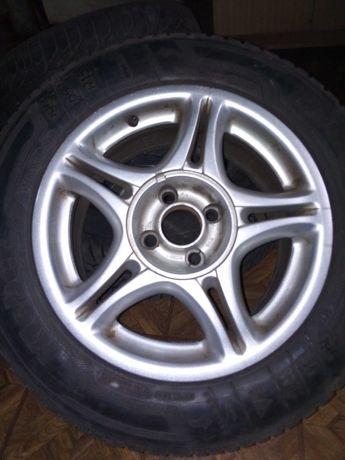 "Felgi aluminiowe 15"" 4szt plus opony"