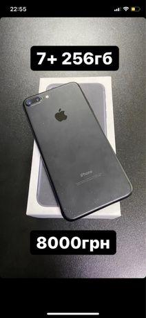 Iphone 7+ 256 гб , neverlock хорошее состояние, торг