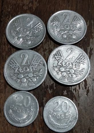 Монети 2 злотих...