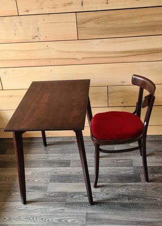 Stoliczek i krzesło typu Thonet po renowacji