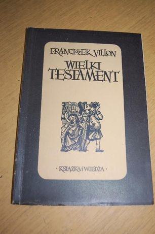 """Książka """"Wielki testament"""" Franciszek Villon"""